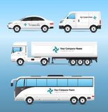 Transport Advertisement Set vector illustration