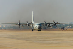 Transport aircraft takeoff Royalty Free Stock Image