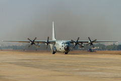Transport aircraft takeoff Royalty Free Stock Images