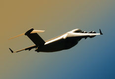 Transport airplane taking off Stock Photo