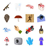 Transport, alcohol, army and other web icon in cartoon style. Computer, dentistry, attributes icons in set collection. Stock Images