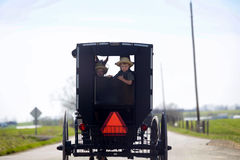 Transport amish d'Amish du pays de l'Ohio Photographie stock libre de droits