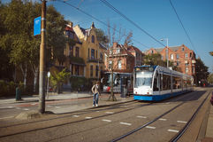 Transport in Amsterdam lizenzfreie stockfotos