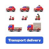 Transport-Anlieferungs-Web-Ikonen Lizenzfreie Stockbilder
