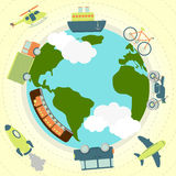 Transport around the world Royalty Free Stock Images
