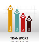 Transport arrows. Over gray background vector illustration Royalty Free Stock Image