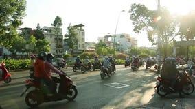 Transport auf Saigon-Straße stock video