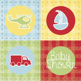 Transport baby shower Stock Images