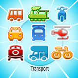 Transport. Background with  means of transport Royalty Free Stock Photos