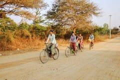 Transport in Bagan, Myanmar Lizenzfreie Stockfotos