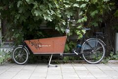 Transport bike in Amsterdam Royalty Free Stock Photos
