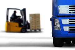 Transport bleu image stock