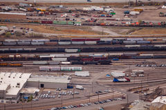 Transport blisko Salt Lake miasta rafinerii ropy naftowej Obraz Royalty Free