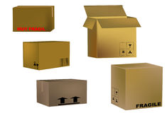 Transport boxes Royalty Free Stock Photography