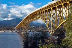 Transport bridge across the bay Stock Photos