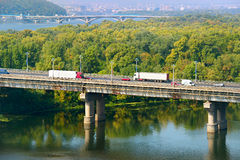 Transport on a bridge Royalty Free Stock Images