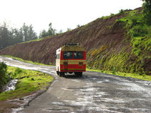 Transport Bus. A government transport bus on a highway in India Royalty Free Stock Photography