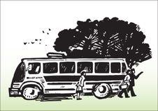 Transport_bus pubblico Fotografie Stock Libere da Diritti