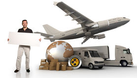 Transport business information Royalty Free Stock Photography