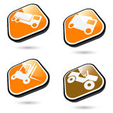 Transport buttons Stock Photos