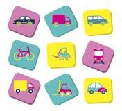 Transport cards design Stock Image