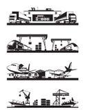 Transport cargo terminals Stock Photography