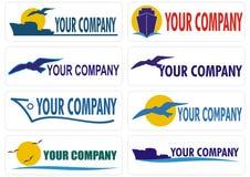 Transport cargo travel companies logo royalty free illustration