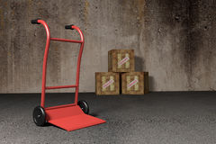 Transport cart Royalty Free Stock Images