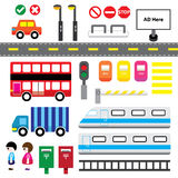 Transport Cartoon Elements Stock Photo