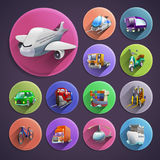 Transport Cartoon Icons Set Royalty Free Stock Photography