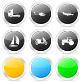 Transport circle icon set 2 Royalty Free Stock Photography