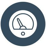 Gauge Vector icon which can be easily modified or edit in any color royalty free illustration