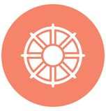 Boat wheel Vector icon which can be easily modified or edit in any color vector illustration