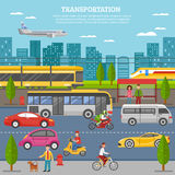 Transport In City Poster Royalty Free Stock Images