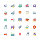 Transport Colored Vector Icons 9 Stock Photography