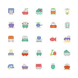 Transport Colored Vector Icons 4 Royalty Free Stock Photos
