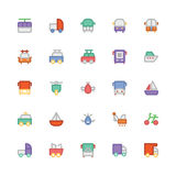 Transport Colored Vector Icons 8 Stock Photo
