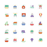 Transport Colored Vector Icons 3 Royalty Free Stock Photography