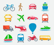 Transport colorful icons Royalty Free Stock Photo