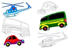 Transport - coloring books Stock Photography