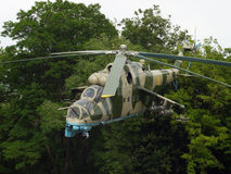 Transport-combat helicopter Mi24-B Stock Photography
