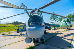 Transport-combat helicopter Mi-24P Royalty Free Stock Image