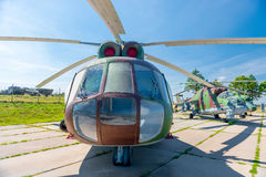 Transport-combat helicopter MI-8T Royalty Free Stock Photo