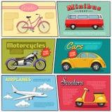Transport comique Mini Posters Set Images libres de droits