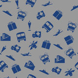 Transport and communication seamless pattern Stock Photo