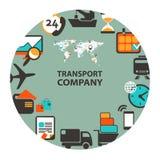 Transport  company emblem Stock Photos