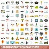 100 transport company icons set, flat style. 100 transport company icons set in flat style for any design vector illustration vector illustration