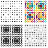 100 transport company icons set vector variant. 100 transport company icons set vector in 4 variant for any web design isolated on white Stock Photos