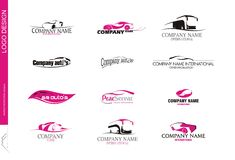 10.transport.company.logo.MM. `Vehicle sales and car rental companies created logo design Royalty Free Stock Image