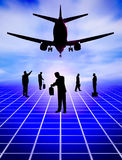 Transport concept. Businessmen in silhouette Royalty Free Stock Image